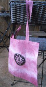 starorůžová taška