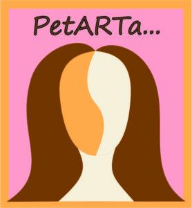 logo PetARTa hnědé